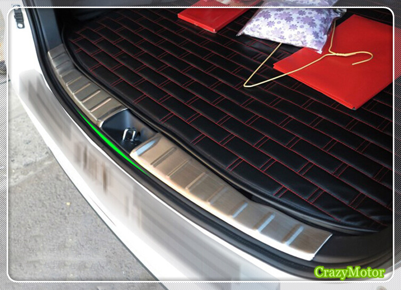 For Peugeot 4008 2012-2016 Stainless steel Car inner rear bumper guard plate cover trim Auto accessories aosrrun after the stainless steel backboard of the guard board the rear guard plate car accessories for acura cdx 2016 2017