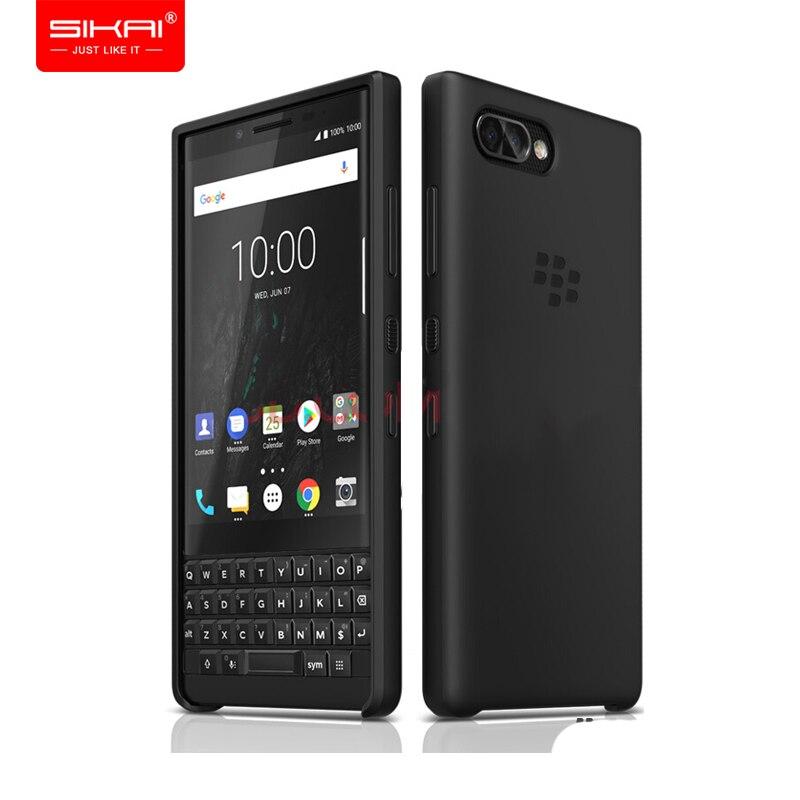 Étui en cuir véritable d'origine pour Blackberry KEY2 Business Flip Bag & Silicone TPU couverture arrière souple pour Blackberry Key 2 tout neuf