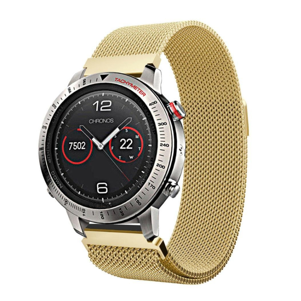 Milanese Loop Stainless Steel Watch Band of Replacement with Magnetic Buckle For Garmin Fenix Chronos milanese mesh belt magnetic buckle quality stainless steel watchband 22mm gold black bracelet for garmin fenix chronos
