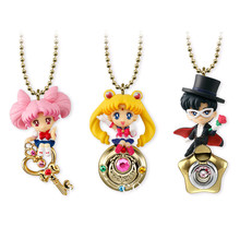 3pcs/Set Anime Sailor Moon Twinkle Dolly PVC Figure Figurine Keychain Toys sailor moon anime keychain keyring action figures characters toys 6pcs anime