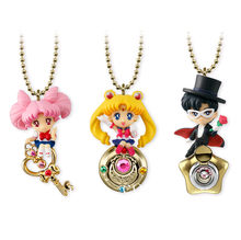 3 Twinkle Dolly pçs/set Anime Sailor Moon PVC Estatueta Figura Brinquedos Chaveiro(China)