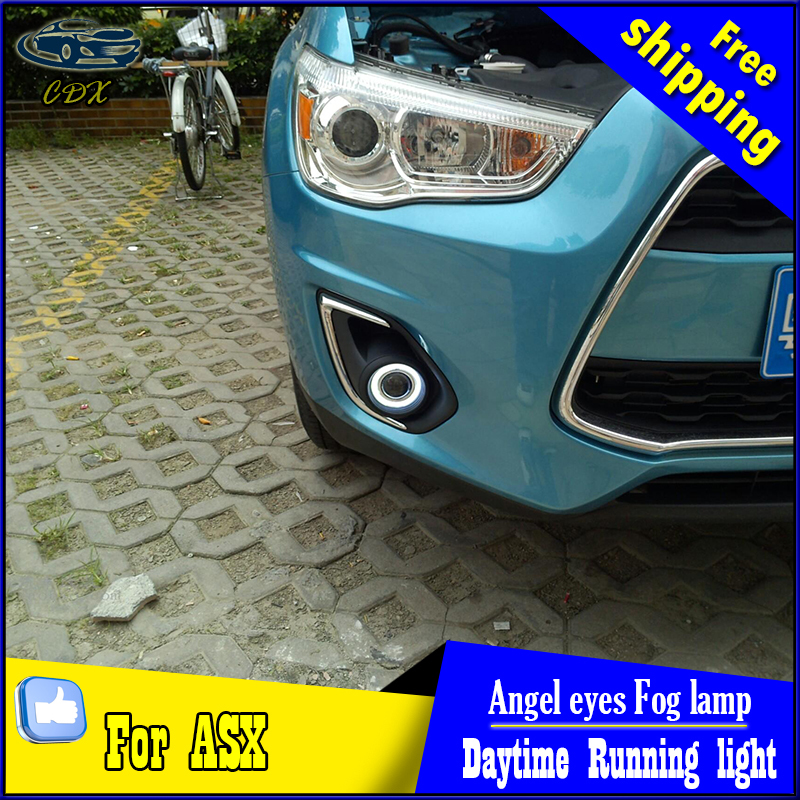 CDX car styling angel eyes fog light  for ASX  2013 year LED fog lamp LED Angel eyes LED fog lamp Accessories купить
