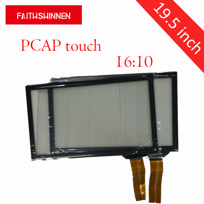 19.5 inch 16:10 Custom Large Monitor Capacitive Touch Screen Panel for open frame capacitive touch screen 19 inch infrared multi touch screen overlay kit 2 points 19 ir touch frame