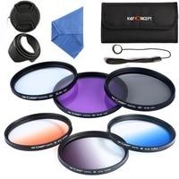 K&F CONCEPT 55mm UV CPL FLD Lens Filter Kit For Canon Nikon Sony A200 A450 A300 Alpha DSLR