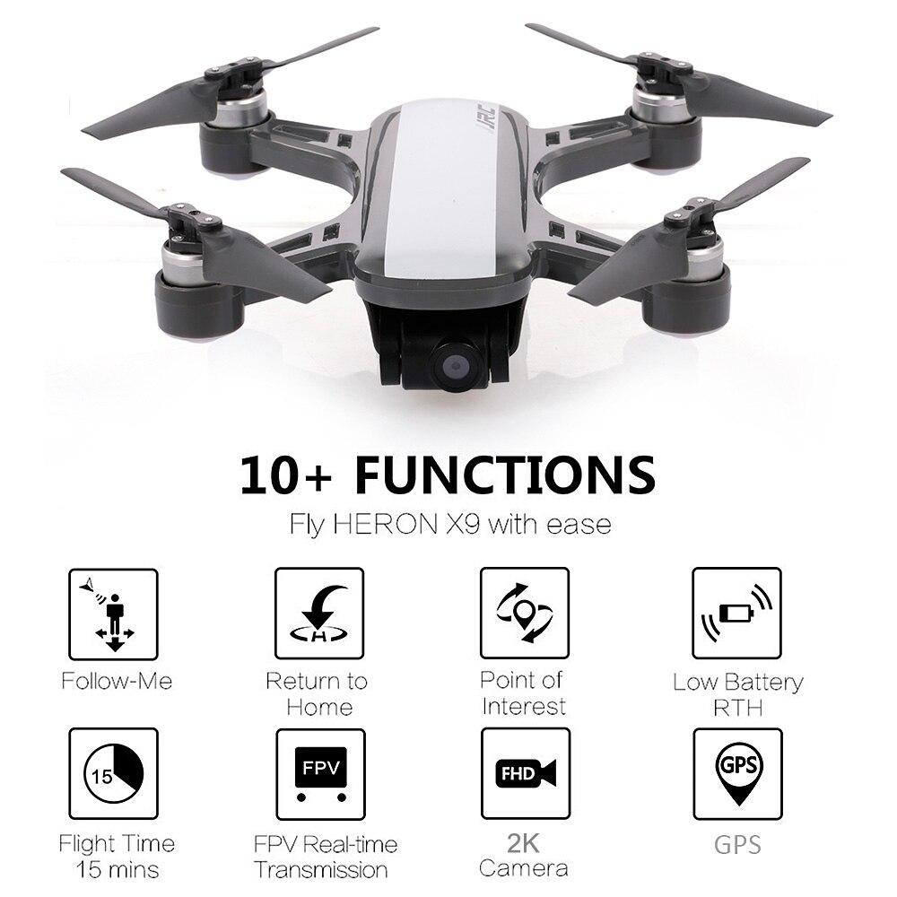 X9 GPS 5G WiFi FPV 1080 P caméra HD sans brosse positionnement du flux optique Intelligent suivant le Mode de hauteur Drone RC à quatre axes