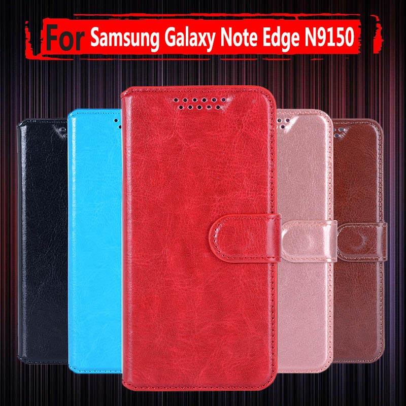 Hot Sale ! Flip Cover PU Leather <font><b>Case</b></font> For Samsung Galaxy Note Edge N9150 <font><b>N915</b></font> SM-N915f 5.6