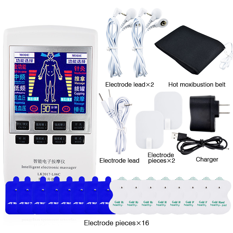 Body Health Care TENS Therapy Massager Muscle Stimulator Pain Relief Device Electrode Pad Acupuncture Body Foot Massage Device new multifunction body massage electric muscle stimulator acupuncture neck back massager tens therapy massage pad relaxation