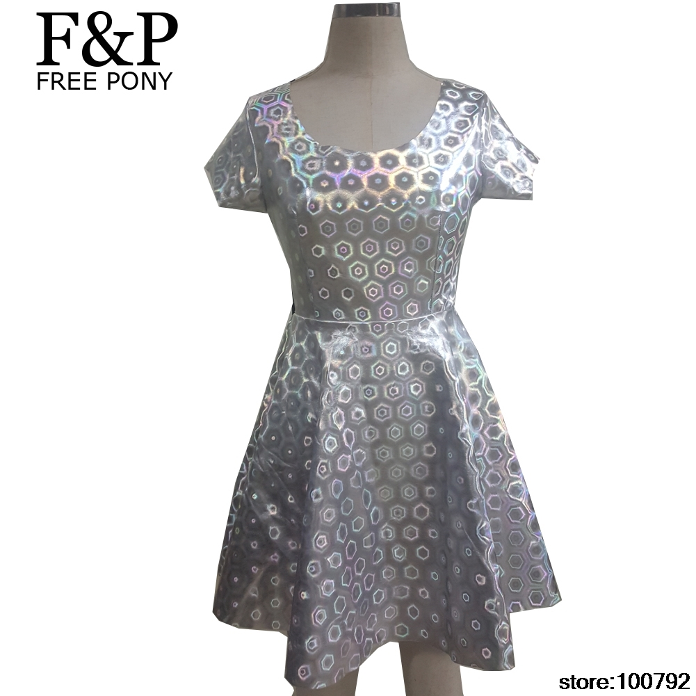 Holographic Festival Dress
