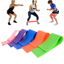 6 Colors Yoga Resistance Rubber Bands Indoor Outdoor Fitness Equipment 0.5mm-1.1mm Pilates Sport Training Workout Elastic Bands