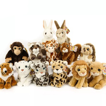 18CM Simulation Wild Animal Plush Toys Kawaii Tiger Lion Leopard Plush Doll Best Raccoon Hedgehog Stuffed Toys For Kids