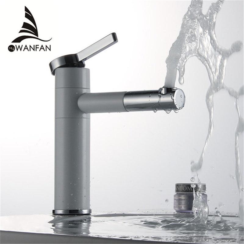 Countertop Elegan White Painting Brass Bathroom Basin Faucet Vessel Sinks Mixer Vanity Tap Swivel Spout Deck