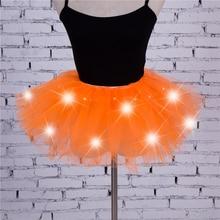 Новинка года; стильный светодиодный фатиновый костюм-пачка для девочек; Танцевальная юбка; необычный костюм для вечеринки в стиле хип-хоп; костюм для Хэллоуина; 8 цветов