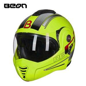 Image 2 - BEON B 702 yeni Flip up motosiklet kaskı modüler açık tam yüz kask Moto Casque kasko Motocicleta Capacete kaskları ECE