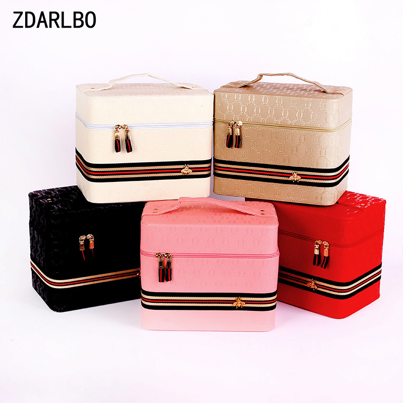 PU Large Capacity Female Make up Bag Woman Cosmetic Bag Travel Organizer Toiletry Kit Box Toiletry Bags Portable Storage CasePU Large Capacity Female Make up Bag Woman Cosmetic Bag Travel Organizer Toiletry Kit Box Toiletry Bags Portable Storage Case