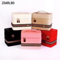 PU Large Capacity Female Make up Bag Woman Cosmetic Bag Travel Organizer Toiletry Kit Box Toiletry Bags Portable Storage Case