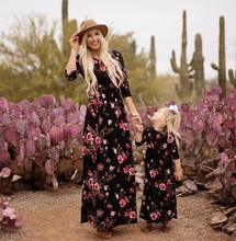 half sleeve mother daughter dress family look mommy and me clothes matching outfits mom mum and daughter print dresses clothing family matching outfits mom mommy and me clothes print black and white splice mother daughter dresses family clothing plus size