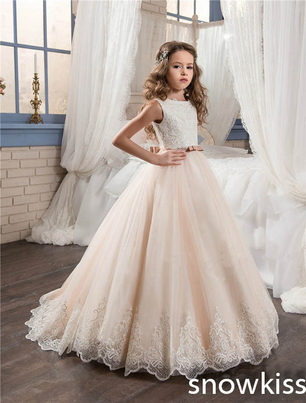 2018 Open Back Blush And Pink Flower Girl Dress For Wedding With