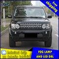 Carro-styling LEVOU luz de nevoeiro para Land Rover Discovery LEVOU Nevoeiro lâmpada com lente e LED de circulação diurna ligh para carro acessórios
