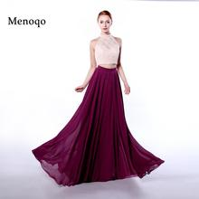 Menoqo evening dress two pieces Amazing 2017 Long with lace vestidos de fiesta Formal Party Evening Dress