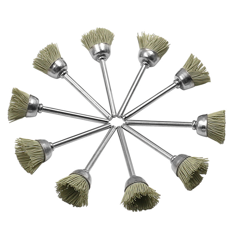 10pcs Mini-Polished Flower Head Electric Grinding Wire Brush Polishing Grinding Tools