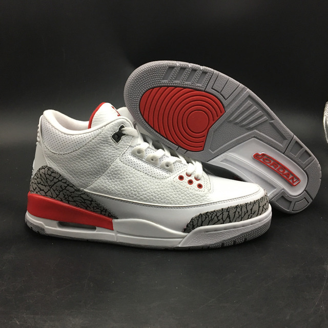 8cdfb7b54e3f2 Free shipping Jordan 3 Men Basketball shoes aj 3 Rosso Corsa Crack Flights  Speed Athletic Outdoor Sport Sneakers 41-47