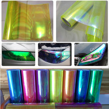 0.3x9m(1x3ft) Neo Car Chameleon Wrap Headlight yellow Color Taillight Light Fog Lamp Vinyl Tint Film 30 60cm car styling auto tint headlight taillight fog light vinyl smoke film vinyl car wrap