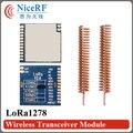 2pcs LoRa1278 100mW 433MHz FSK Wireless Transceiver Modules +2pcs 433MHz Helical Antennas