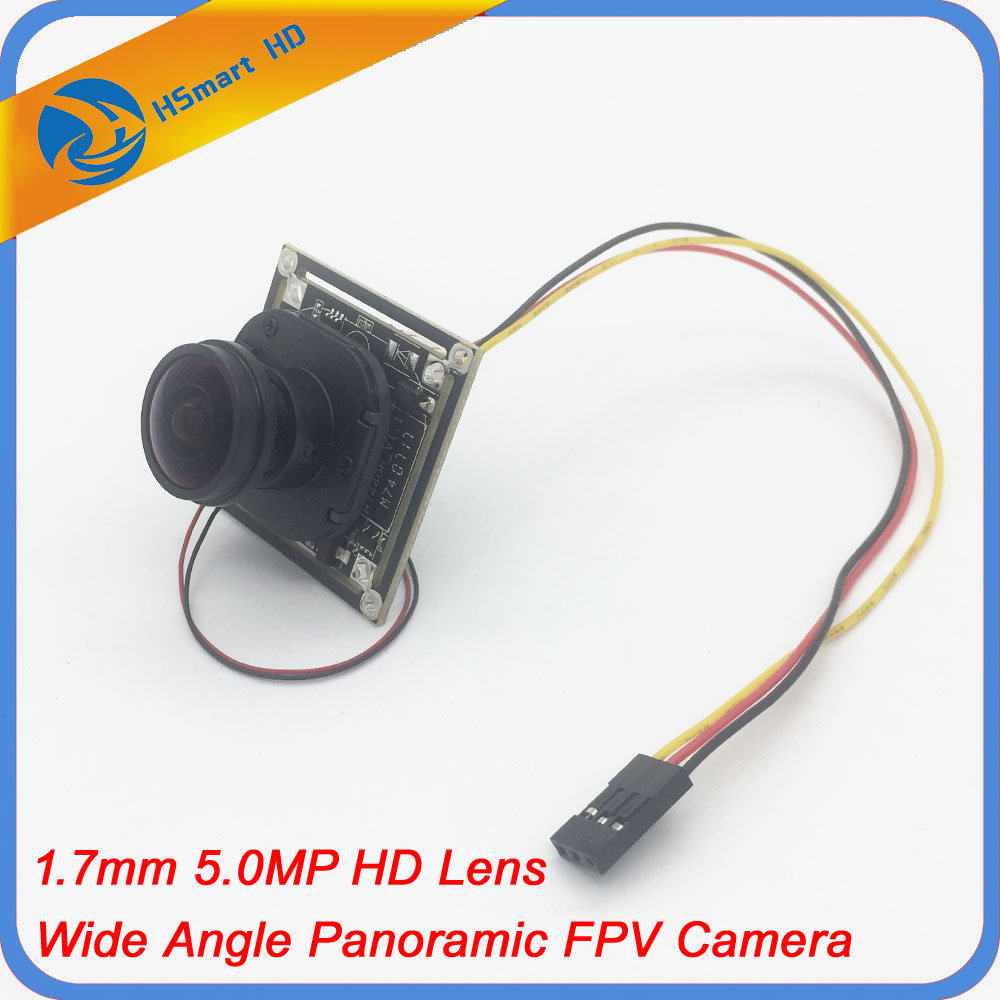 5.0MP HD 1.7mm Fisheye Lens 1200TVL HD CCTV COMS IR-CUT Wide Angle Panoramic PCB CAMERAS For RC Quadcopter Drone Mini FPV Camera hot cctv 1000tvl micro color coms hd ir cut 2 8 mm ultra wide angle lens video fpv camera for rc quadcopter aerial photography