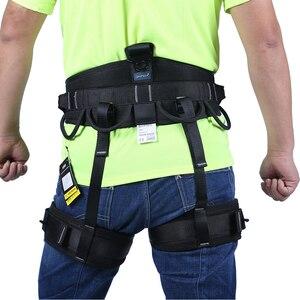 Image 3 - XINDA Camping Outdoor Hiking Rock Climbing Harness Half Body Waist Support Safety Belt Women Men Guide Harness Aerial  Equipment