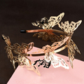 New Arrival Luxurious Shiny gold  butterfly Headbands Tiaras Noble headdress for bride Wedding dress Hair jewelry accessories
