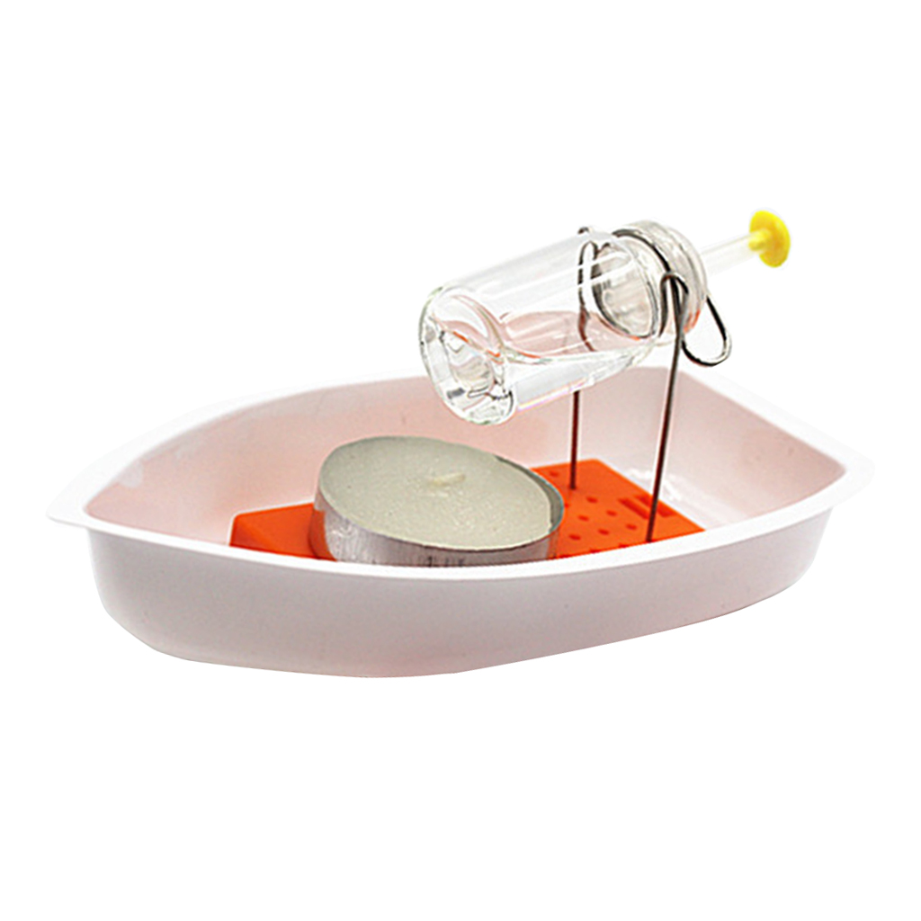 Candle Powered Steam Boat Science Puzzle Kit Kids Student Learning Toy Physics Experiment School Teaching Aids