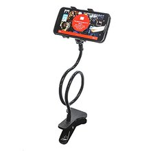 Universal Lazy Android Mobile Phone Clip Holder GPS Desk Bed Stand Bracket 360 Rotating Mount For