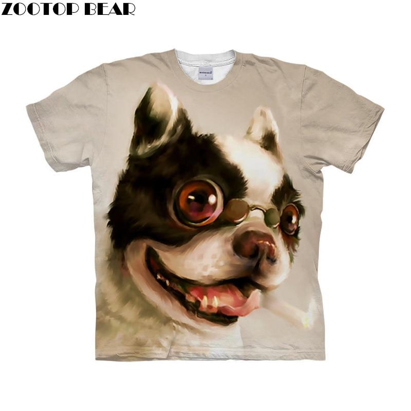 Dog t shirt 3d t-shirt Men Women tshirt Anime Tee Funny Top Short Sleeve Camiseta Streetwear Cloth Hip Hop Drop Ship ZOOTOP BEAR