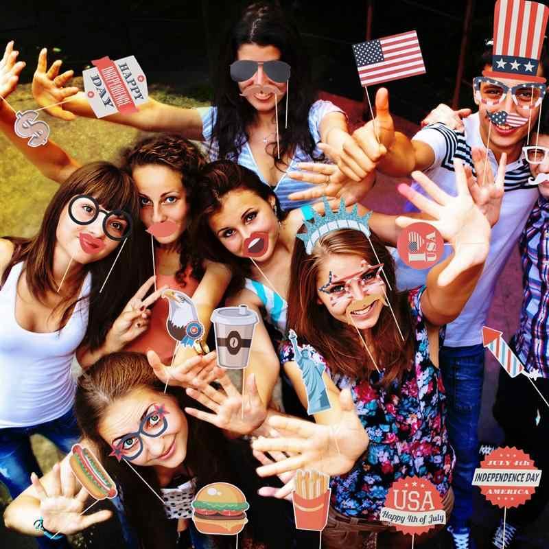 Photo Booth Alat Peraga Berguna Amerika Hari Kemerdekaan Dekorasi Pesta Nikmat Fotografi Alat Peraga Selfie Alat Peraga untuk Rumah Perjamuan Pesta