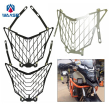 waase Motorcycle Headlight Head font b Lamp b font Light Grille Guard Cover Protector For Honda
