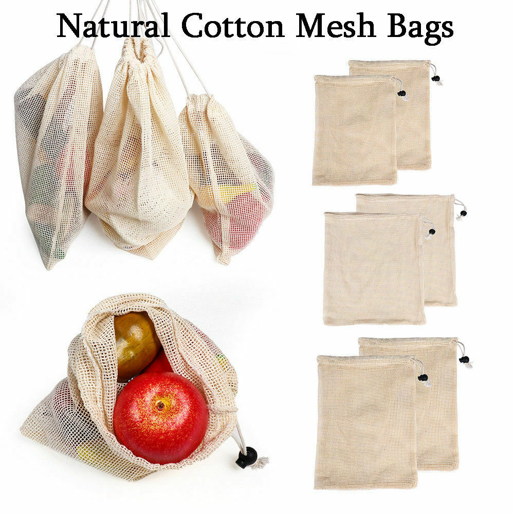 New Reusable Drawstring Bag Cotton Metal Buckle Multi-Purpose Rice Vegetable Shopping Bag High Quality