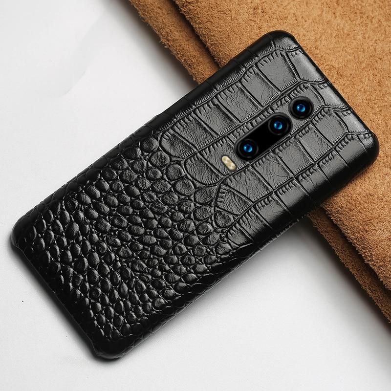 Natural Cow Leather phone case for Xiaomi Redmi K20 K20 Pro 7 7Pro Note7 Note5 5Plus 4x 6a Back cover For Mi 9 9T 9SE 8 8SE Lite