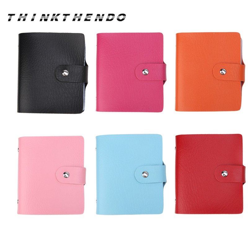 Big Capacity New Business Cards Bags Women Men Anti-Magnetic Pack Pocket Business Name ID Credit Card Wallet 6 Colors