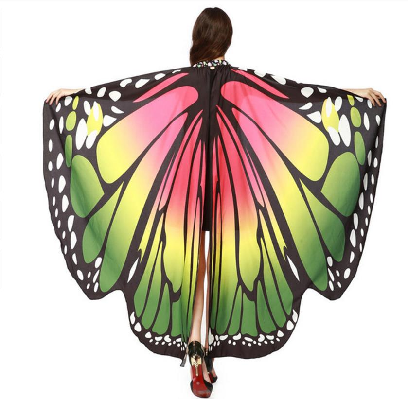 Drop-Shipping-HOT-Women-Butterfly-Wings-Pashmina-Shawl-Scarf-Nymph-Pixie-Poncho-Costume-Accessory