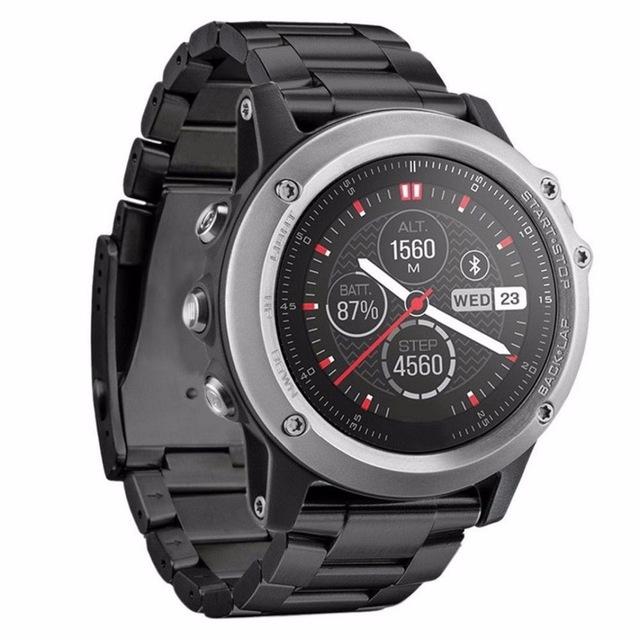 Faixa de relógio de aço inoxidável para garmin fenix 3 smart watch strap banda Para Fenix 3 com ferramenta de Prata Ouro Negro Cor galvaniza