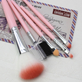 LEARNEVER LEARNEVER 5 Pcs Pink Makeup Brushes Set Powder Foundation Eyeshadow Eyeliner Lip Cosmetic Brushes M02547