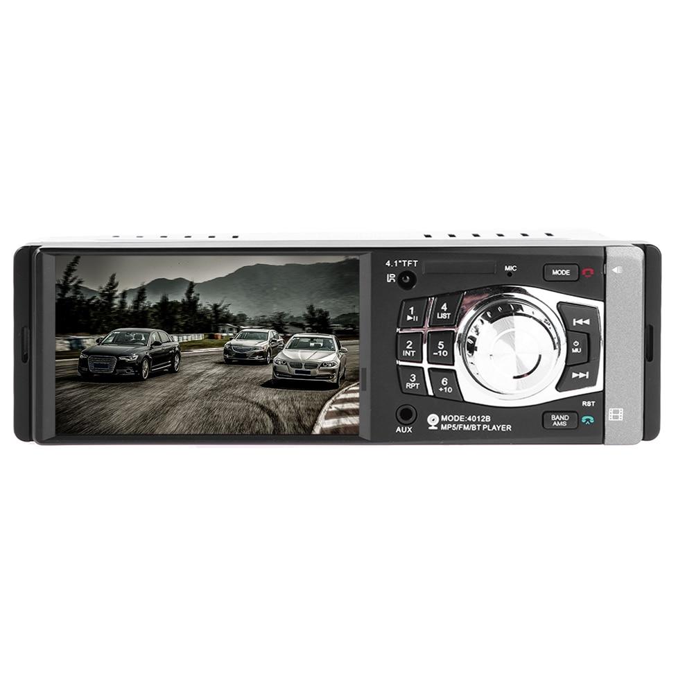 4.1 pouces autoradio lecteur stéréo Bluetooth téléphone AUX-IN MP3 FM/USB/1 Din/télécommande 12 V voiture Audio voiture musique à distance haut-parleur