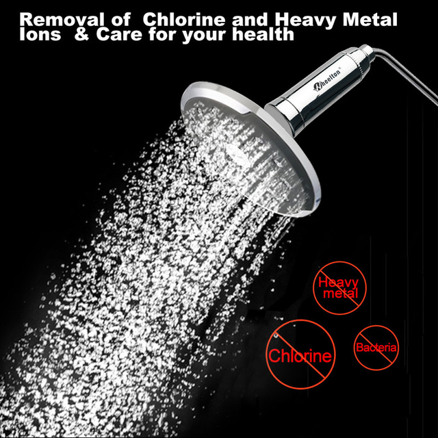Wheelton  Shower Water Filter(H-301-1E) Softener Chlorine&Heavy Metal Removal Bath purifier Health Bathing For Health Bathing