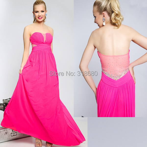 Elegante por encargo acanalada blusa Simple graduación Vestidos ...