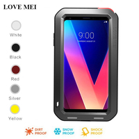 LOVE MEI Aluminum/Metal Case For LG V10 V20 V30 Cover Powerful Hybria Armor Shockproof Life Waterproof Case For LG V30