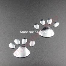 Dongzhen 2X Araba Motosiklet Serin Tasarım Paw Etiketler 3D Hayvan Köpek Ayı Ayak Izi Çıkartması Etiketler Gümüş Dış Aksesuarlar
