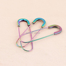 10pcs/lot  rainbow colorful 3inch large size metal brooch Safety Pins decoration for women
