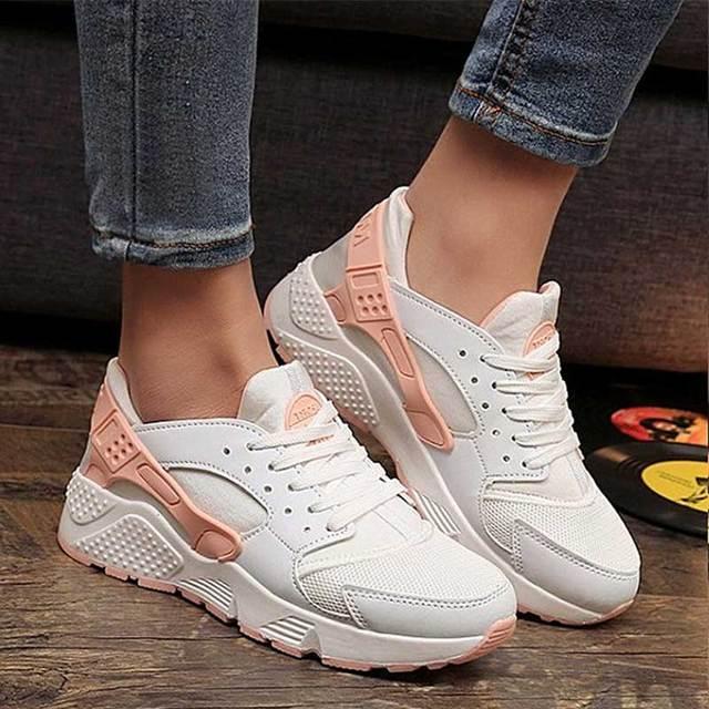 Moda Vulkanize Ayakkabı Eğitmenler Kadın Sneakers rahat ayakkabılar Sepeti Femme Hava Mesh Tenis Feminino Zapatos Mujer Plataforma
