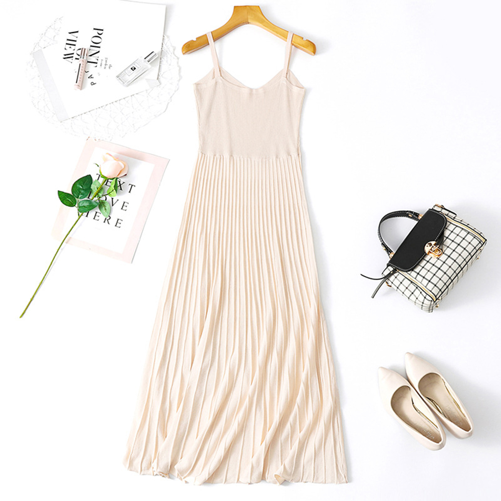 Spring and summer new style Korean Slim Sling Dress Fresh stylish dress