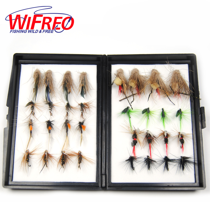 [32PCS/Set] Cost-effective this Season's Hottest Fly Fishing Hook Combo Trout / Grayling Fishing Artificial Lures with Free Box